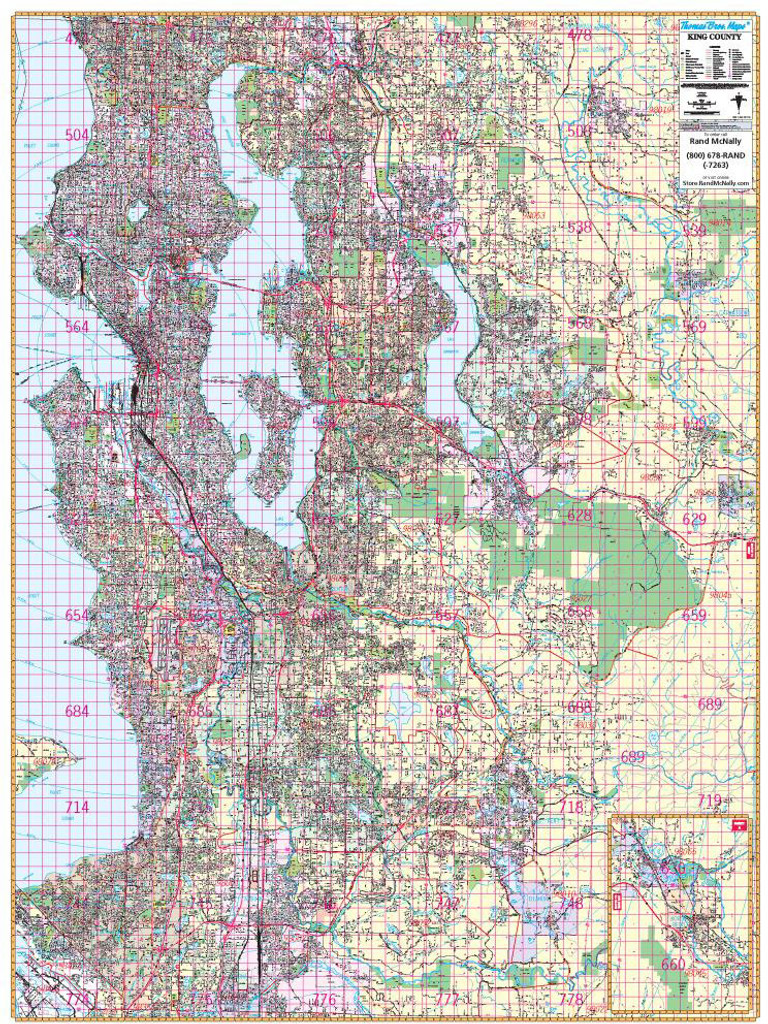 Thomas Bros. Seattle Wall Map