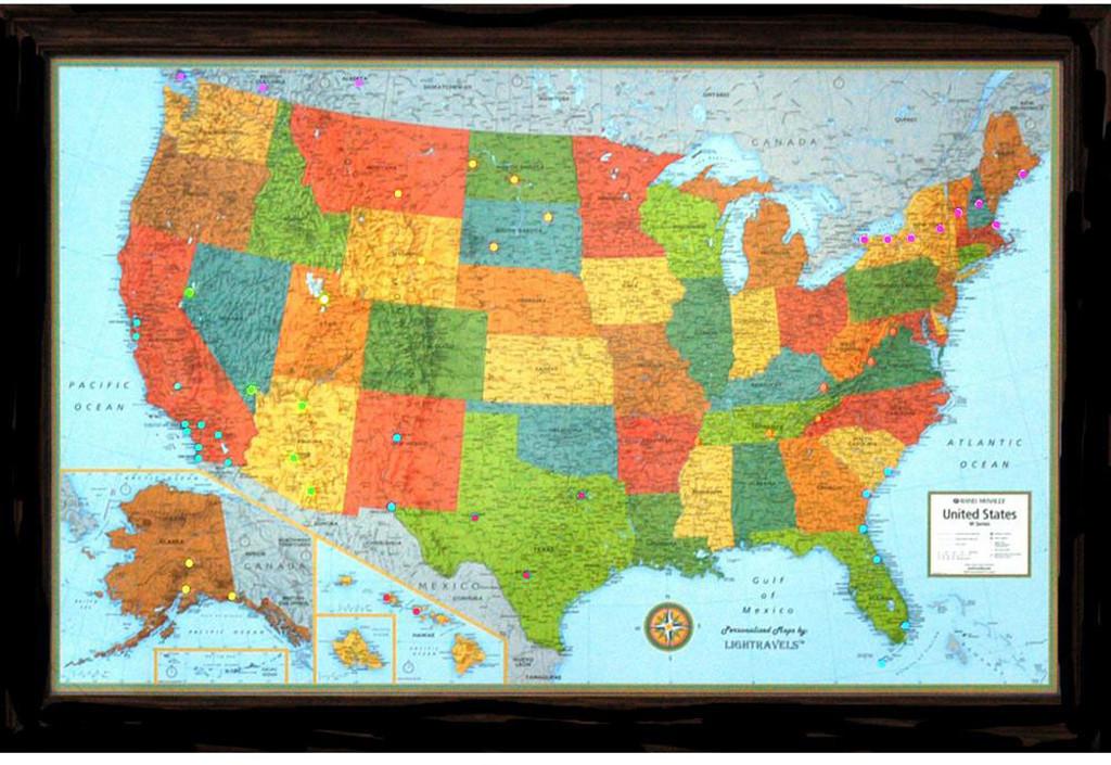 Lightravels Illuminated U.S.A. Map