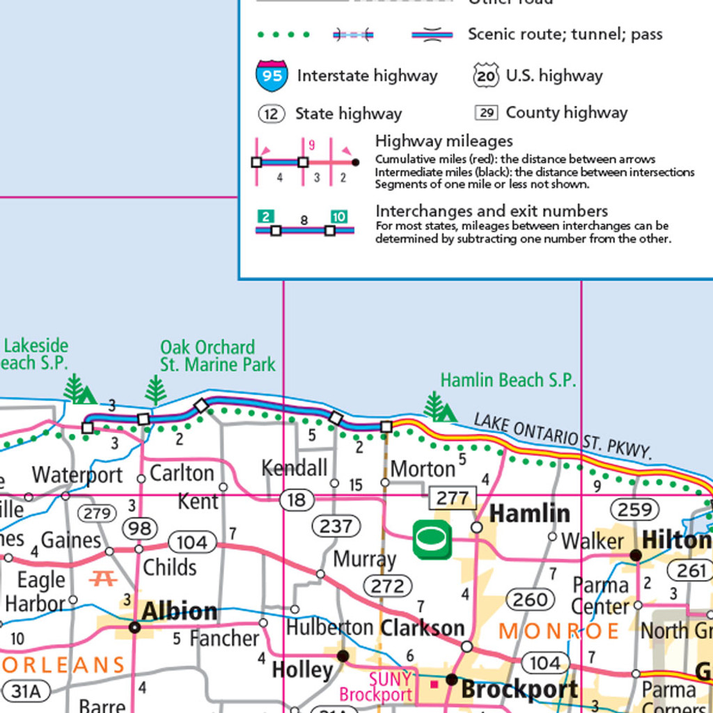 Rand McNally New York State Wall Map - New york map highways