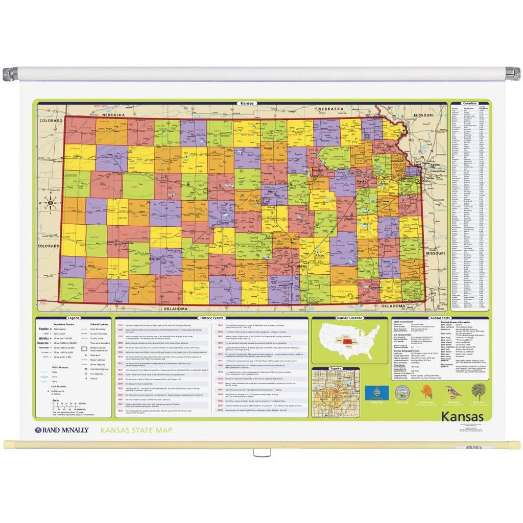 Kansas Political State Wall Map