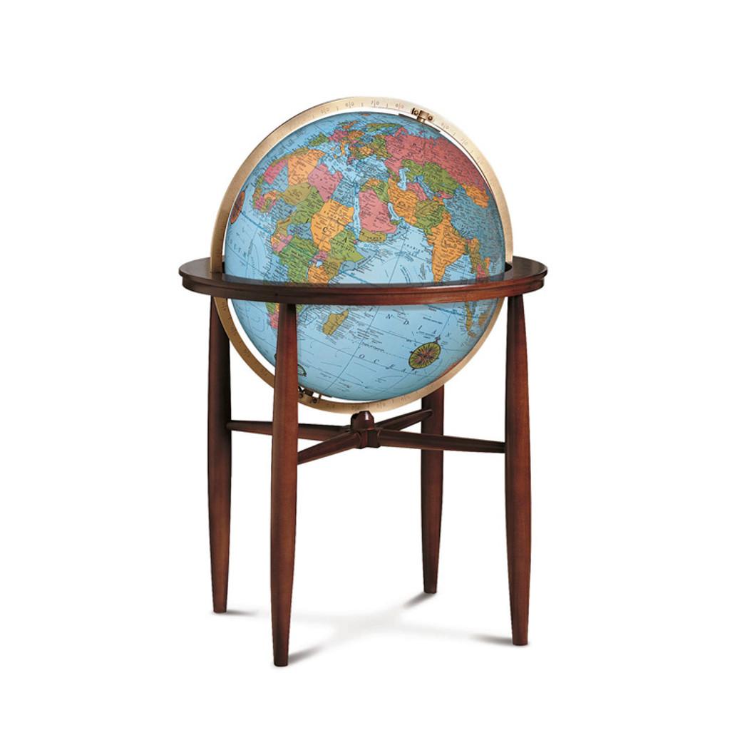 "Finley Blue Oceans 20"" Illuminated Floor Globe"