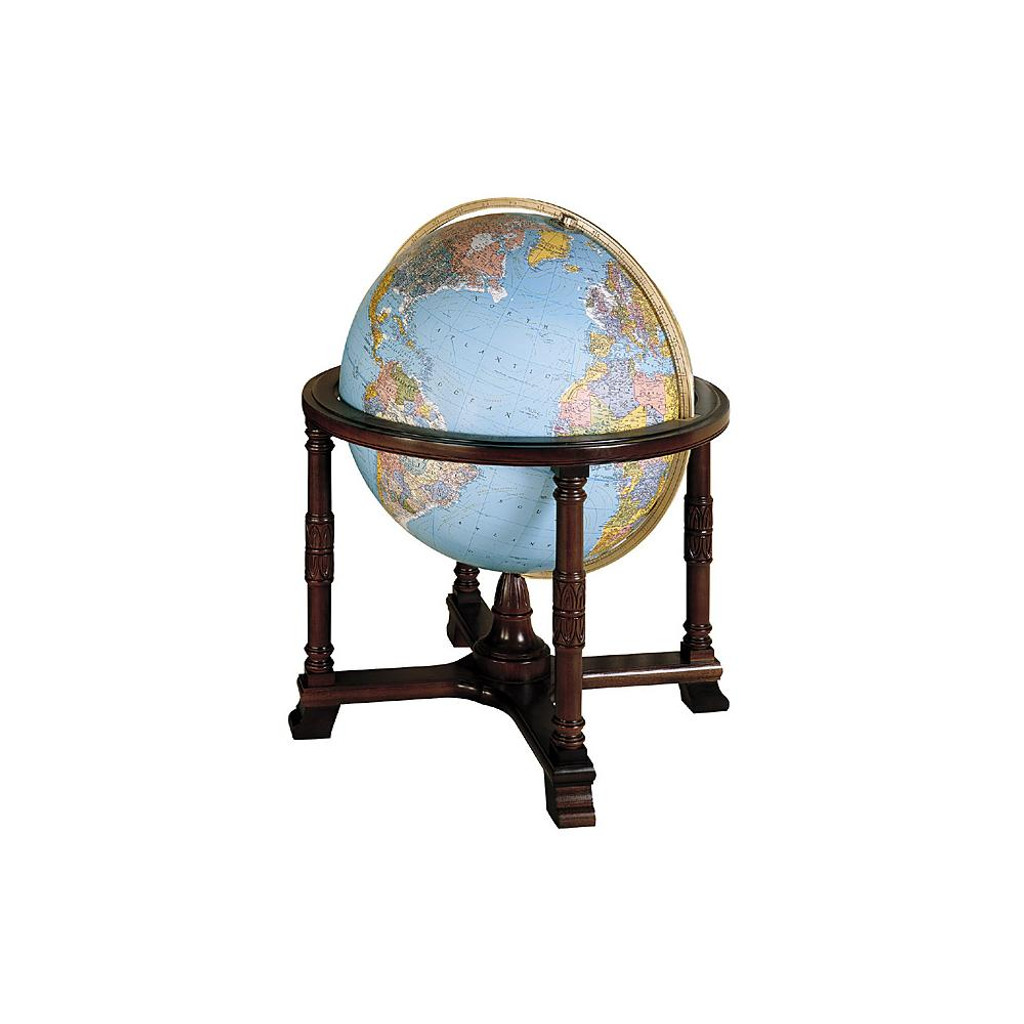 "Diplomat 32"" Illuminated Floor Globe (Blue Oceans)"