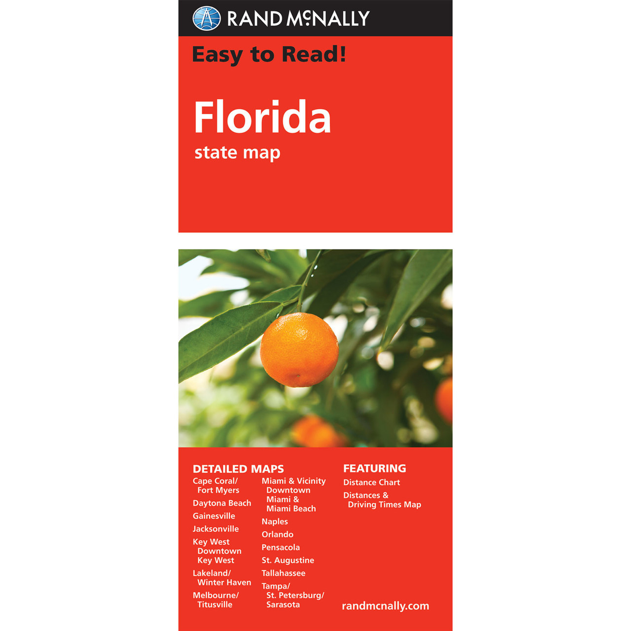 Rand McNally Easy To Read State Folded Map Florida - Florida map beach