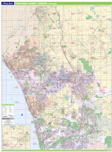 Thomas Bros. North San Diego County Wall Map