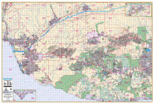 Thomas Bros. Ventura County Wall Map