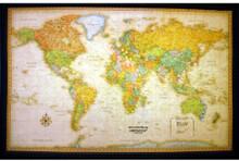 Lightravels Classic Edition Illuminated World Wall Map