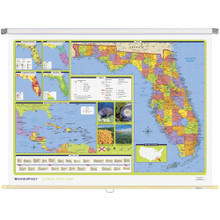 Florida Political State Wall Map