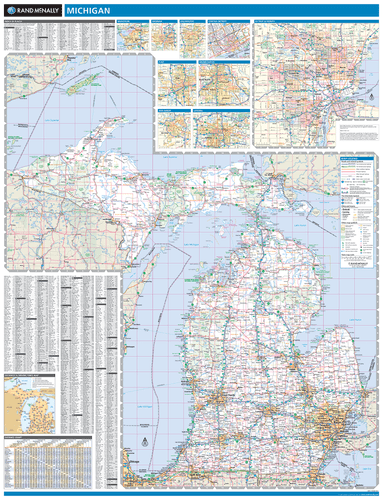ProSeries Wall Map: Michigan State