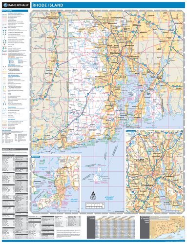 ProSeries Wall Map: Rhode Island