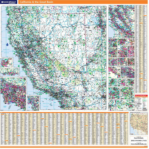 ProSeries Wall Map: California & the Great Basin