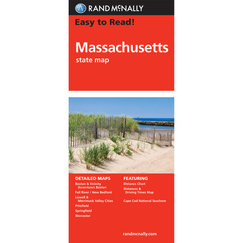 Easy To Read: Massachusetts State Map