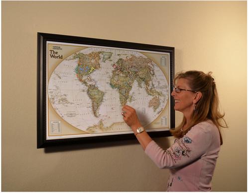Lightravels World Executive Explorer Map (Antique Ocean)