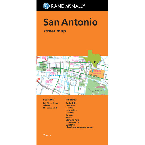 Folded Map: San Antonio Street Map