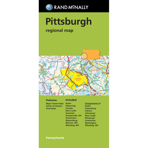 Folded Map: Pittsburgh Regional Map