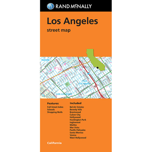 Folded Map: Los Angeles Street Map