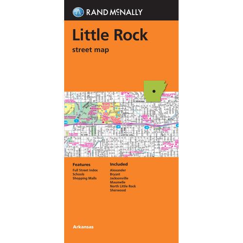 Folded Map: Little Rock Street Map