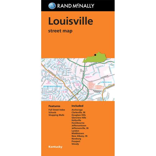 Folded Map: Louisville Street Map