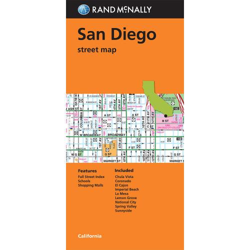 Folded Map: San Diego Street Map