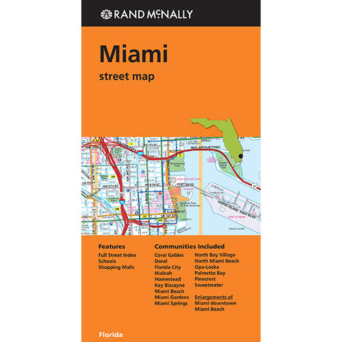 Folded Map: Miami Street Map