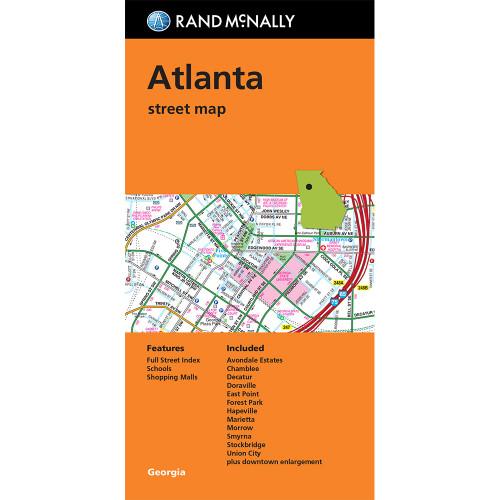 Folded Map: Atlanta Street Map