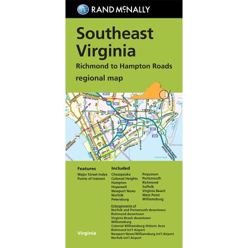 Folded Map: Southeast Virginia Richmond to Hampton Roads Regional Map