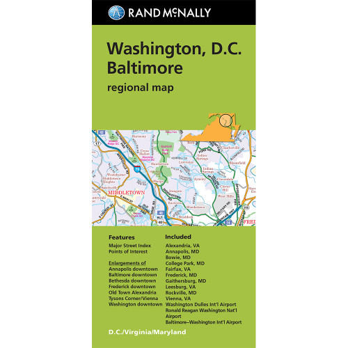 Folded Map: Washington, D.C. Baltimore Regional Map
