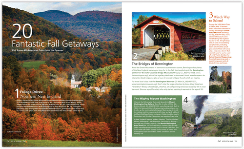 Best of the Road  U.S. Travel Planner & Atlas - Fall Edition