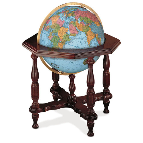 "Statesman Blue Oceans 20"" Illuminated Floor Globe"