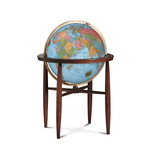 "Finley Blue Oceans 20"" Illuminated Floor Globe"