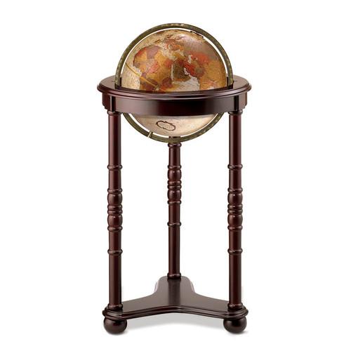 """Lancaster Bronze Metallic 12"""" Floor Globe"""