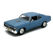 1970 Chevrolet Nova SS MAISTO SPECIAL EDITION Diecast 1:24 Scale Blue