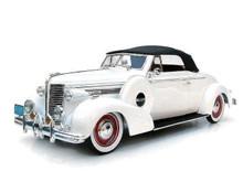 1938 Buick Century Convertible SIGNATURE MODELS Diecast 1:18 Scale White