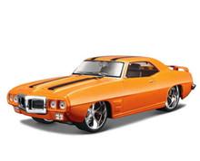 1969 Pontiac Firebird MAISTO MUSCLE Diecast 1:24 Scale Orange