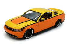 2010 Ford Mustang MAISTO CUSTOM SHOP Diecast 1:24 Scale Yellow/Orange