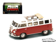 1962 Volkswagon VW Microbus SIGNATURE SERIES Diecast 1:43 O Gauge Scale Red/White