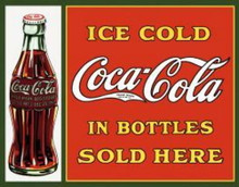 Metal - Tin Sign COKE Ice Cold Coca Cola In Bottles Garage Man Cave Bar Sign