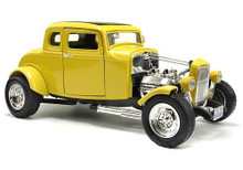 1932 Ford 5 Window Coupe MOTORMAX Diecast 1:18 Scale Yellow