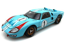 1966 Ford GT-40 MK II SHELBY COLLECTIBLES Diecast 1:18 #1 Le Mans Miles/Hulme