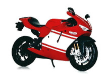 DUCATI Desmosedici RR Motorcycle MAISTO Diecast 1:12 Red White FREE SHIPPING