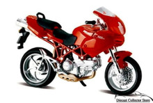 Ducati 1000 DS Motorcycle MAISTO Diecast 1:18 Scale  Red FREE SHIPPING