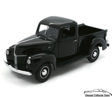 FRANKLIN MINT 1940 Ford Pickup Diecast 1:24 Scale Black w/Free Display