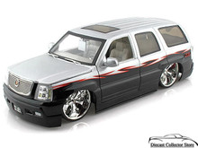 Cadillac Escalade SUV DUB CITY Diecast 1:18 Scale Black/Silver
