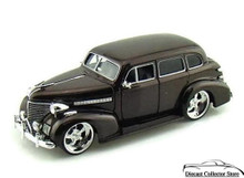 1939 Chevy Master Deluxe BIGTIME KUSTOMS Diecast 1:24 Scale Dark Brown