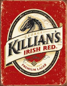 Metal - Tin Sign KILLIAN'S IRISH RED - Beer Garage Man Cave Bar Sign