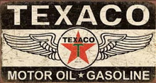 Metal - Tin Sign TEXACO Motor Oil Gasoline Vintage Style Garage Man Cave Sign