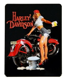 "Metal - Tin 3-D Embossed Sign HARLEY DAVIDSON ""Babe Wash"" Garage Man Cave Sign"