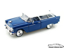 1955 Chevrolet Bel Air Nomad ARKO VINTAGE VEHICLE Diecast 1:32 Scale Blue FREE SHIPPING