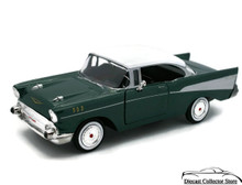 1957 Chevrolet Bel Air MOTORMAX Diecast 1:24 Scale Green