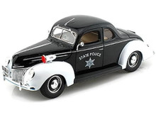 1939 Ford Deluxe Coupe STATE POLICE Vehiicle MAISTO Diecast 1:18 Scale