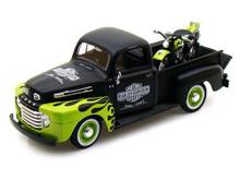 1948 Ford F1 Pickup 1948 FL Panhead HARLEY DAVIDSON Diecast 1:24